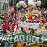 Las centrales sindicales de Brasil volverán a manifestarse masivamente  por la renuncia de Michel Temer.