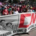 Maestros de la CNTE  en Mexico realizan megamovilización este viernes