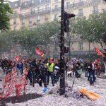Trabajadores franceses reciben dura represión