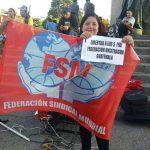 Piqueteos en Centroamérica en apoyo a Julia Lotán