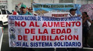 CNTP en la calle en defensa del Seguro Social.