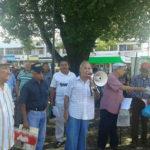Movimiento Fuerza Nueva y Jubilados de Panamá en  mitin alrededor de Asamblea