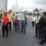 ¡Trabajadores de la Autoridad Marítima de Panamá protestan!