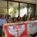 Conferencia de Prensa del Congreso de Mujeres Trabajadoras FSM.