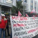 Piqueteo contra el Ministerio de Trabajo y Desarrollo Laboral (MITRADEL)